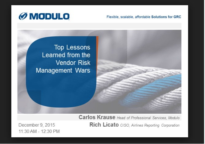 Top Lessons Learned From The Vendor Risk Management Wars