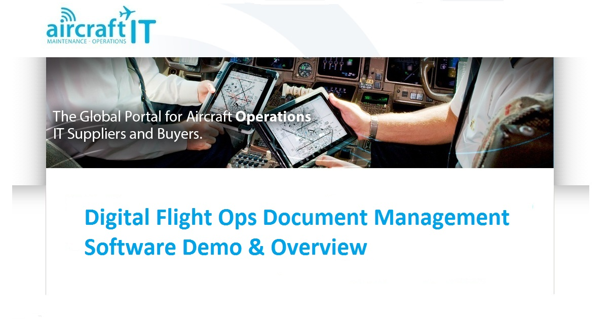 Digital Flight Ops Document Management Software Demo & Overview