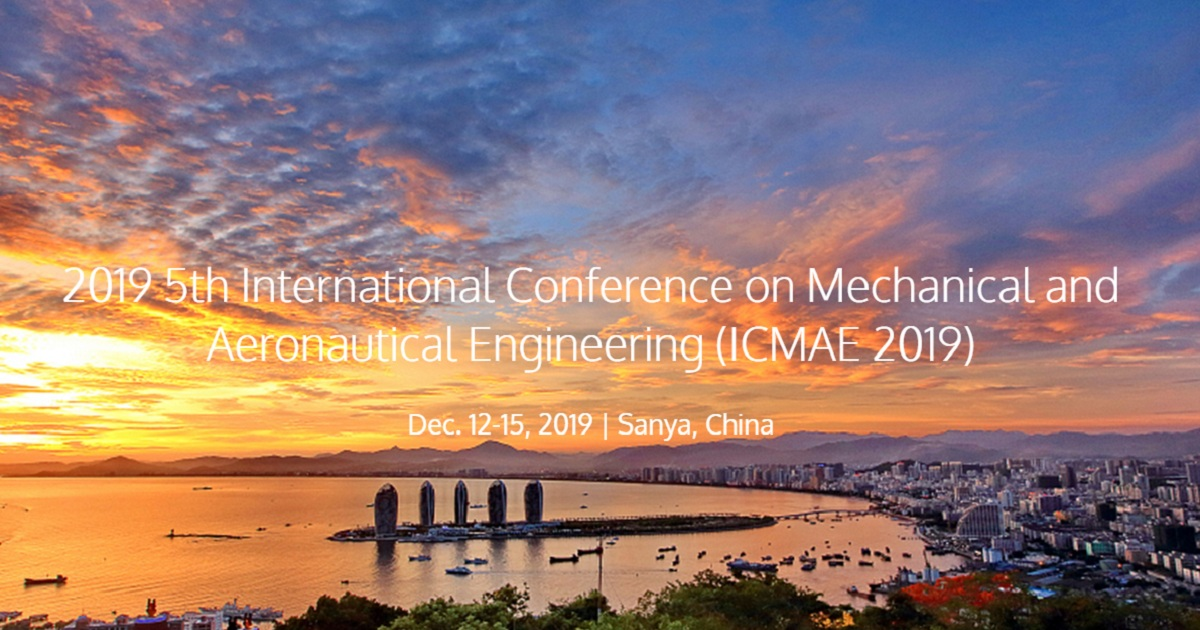 5th International Conference on Mechanical and Aeronautical Engineering