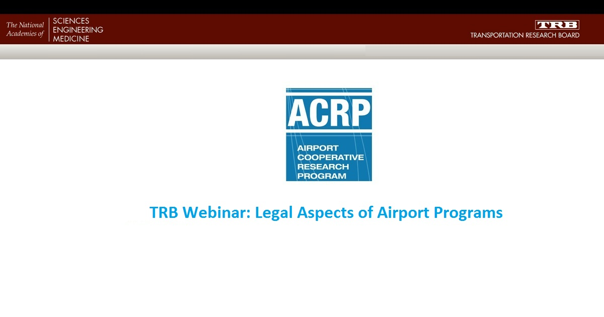Legal Aspects of Airport Programs