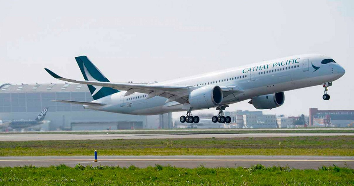 CATHAY PACIFIC'S FIRST AIRBUS A350-1000 ROLLS OUT OF PAINT SHOP