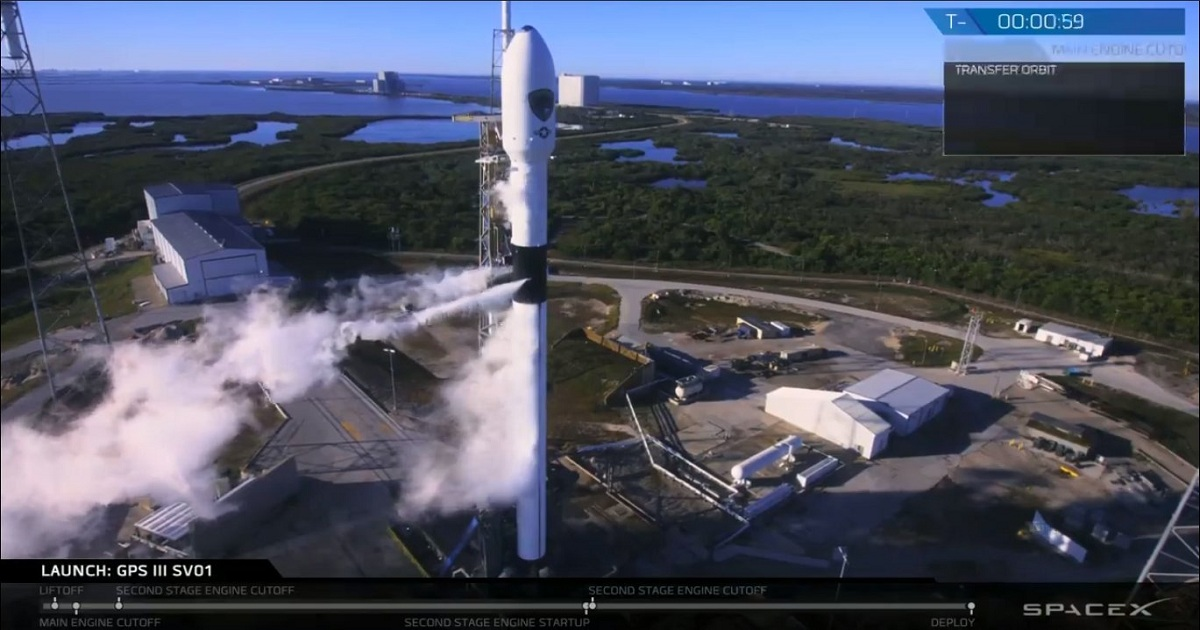 SpaceX completes launch of the U.S. Airforce's powerful GPS satellite