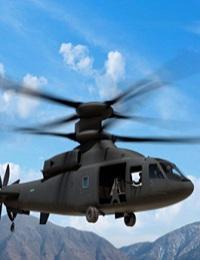 SB-1 DEFIANT HELICOPTER SET FOR TAKE-OFF